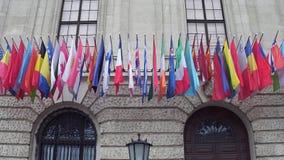 Różne kraj flaga w Wiedeń Zdjęcia Royalty Free