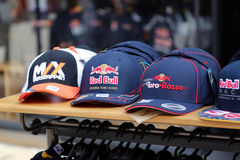 Różne nakrętki F1 drużyna Dla sprzedaży zdjęcia stock