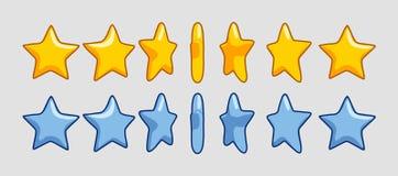 Różne obracanie gwiazdy ilustracja wektor