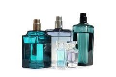 Różne pachnidło butelki zdjęcia stock