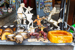 Różne pamiątki w greckim prezenta sklepie, Grecja Obrazy Stock