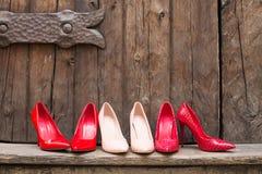 Różne pary szpilki buty zdjęcie royalty free