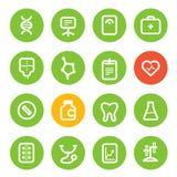 Różne pionowo opieka zdrowotna koloru ikony ustawiać Obraz Stock