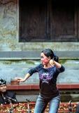 Różne pozy tancerz kobieta Etniczni ludzie Indonezja zdjęcie royalty free