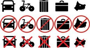 Różne prohibicje ilustracji
