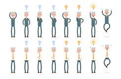Różne rewizj opcje i znalezisko pomysły elderly royalty ilustracja