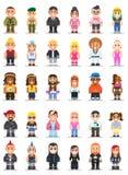 Różne subkultury mężczyzna i kobieta w mieszkaniu projektują Obrazy Stock