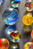 Różne szklane piłki Fotografia Royalty Free