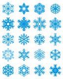 różne ustalonymi płatki śniegu Obraz Royalty Free