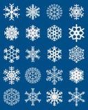 różne ustalonymi płatki śniegu Obrazy Royalty Free