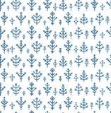 Różnego płatka śniegu bezszwowy wzór Fotografia Stock