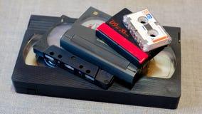 Różnej kasety magnetofonowa taśma Obraz Royalty Free