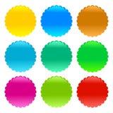Różni barwioni guziki odizolowywający na białym tło wektorze obrazy stock