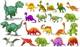 Różni dinosaury jakby ilustracja wektor