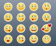 Różni emocj smileys royalty ilustracja