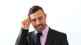 Różni gesty biznesmenami w kostiumu zbiory wideo