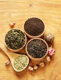 różni herbaciani typ obraz stock