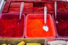 Różni kolory dla sprzedaży w India Obraz Royalty Free