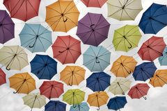 Różni kolory parasola widok spod spodu fotografia royalty free
