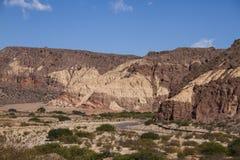 Różni kolory w górach zdjęcie stock