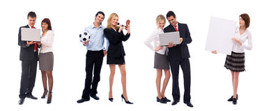 różni ludzie biznes drużyn Obrazy Stock
