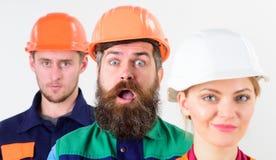 Różni ludzie w drużynie architekci, budowniczowie, robotnicy, Obrazy Stock