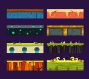 Różni materiały i tekstury dla gry Obrazy Royalty Free