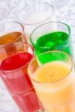 Różni miękcy napoje w szkle Zdjęcia Royalty Free