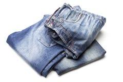 Różni niebiescy dżinsy Obrazy Stock