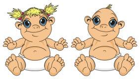 Różni niemowlęta siedzą royalty ilustracja
