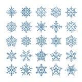 Różni płatków śniegu elementy ustawiający Zdjęcie Stock
