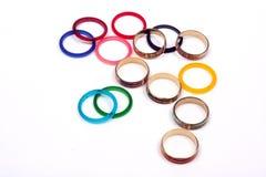 różni pierścionki Fotografia Stock