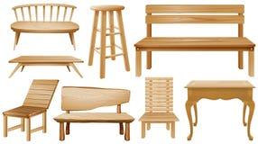 Różni projekty drewniani krzesła ilustracja wektor