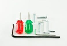 Różni rodzaje narzędzia na białym tle Obrazy Royalty Free