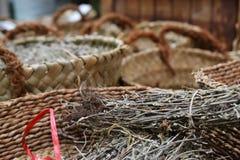 Różni rodzaje pikantność w koszach w akrze, Akko, rynek z pikantność i lokalnymi Arabskimi produktami, Północny Izrael zdjęcia stock