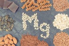 Różni składniki zawiera magnez, witaminy, kopaliny i włókno, zdjęcie stock