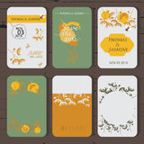Różni szablony dla ślubnych zaproszeń Projekta save daktylowe karty Zdjęcia Royalty Free