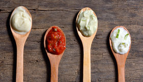 Różni typ condiments fotografia stock