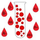 Różni typ krew ilustracja wektor