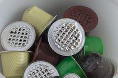 Różni używać strąki kawa Fotografia Stock