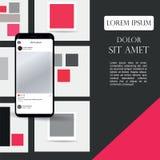 Różni UI, UX, GUI ekrany, i płaskie sieci ikony dla mobilnych apps, wyczulona strona internetowa wliczając nazwy użytkownika, Two Obrazy Royalty Free