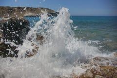 Różni widoki wybrzeże Grecja obrazy royalty free
