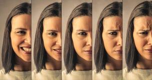 Różni wyrażenia zdjęcia stock