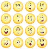 Różni wyrazy twarzy Obrazy Stock