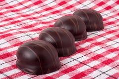 Różnicy chocolated słodcy pralines Fotografia Royalty Free