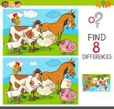 Różnicy gemowe z zwierzęta gospodarskie grupą ilustracji