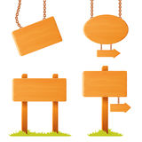 Różnie kształtna drewniana znak deska Obrazy Stock