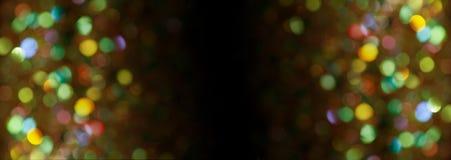 Różnobarwny tło z bokeh światłami Zdjęcie Stock
