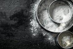 Różnorodna arfa z mąką zdjęcia stock