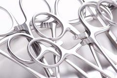 Różnorodna chirurgicznie instrumentów rękojeść Obrazy Stock
